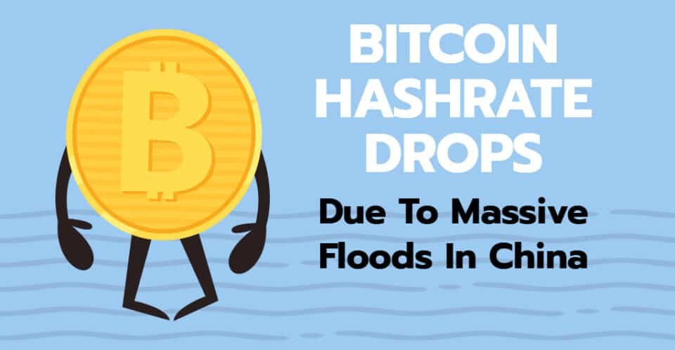 Bitcoin Hashrate in China Falls by Nearly 20% Due To Heavy Floods